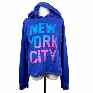American Eagle Hoodie Sweatshirt L Cropped New Yor